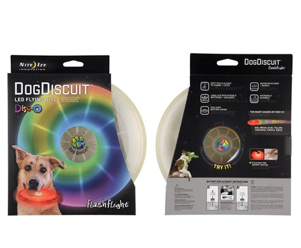 NiteIze Dog Discuit Multi-Color Lighted Dog Frisbee