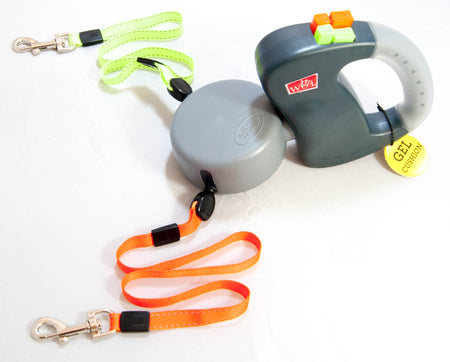Wigzi Gel Dual Retractable Dog Leash