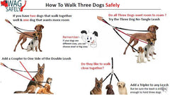 Three Dog Tangle-Free Triple Leash - Keep Doggie Safe