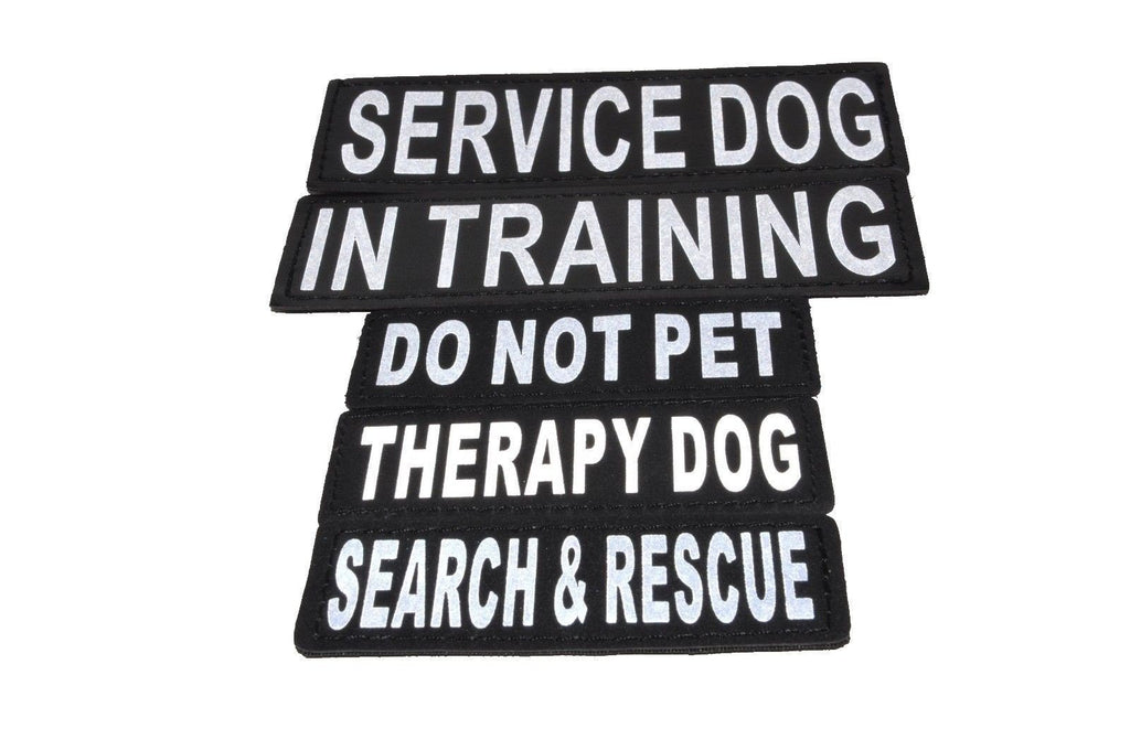 Reflective Service Dog Patch (Set of 2)