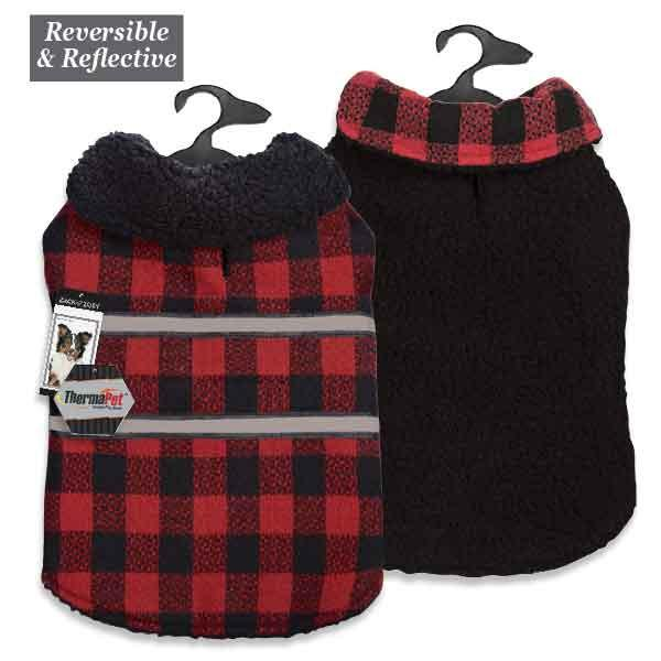 Plaid Reversible Thermal Blanket Coats