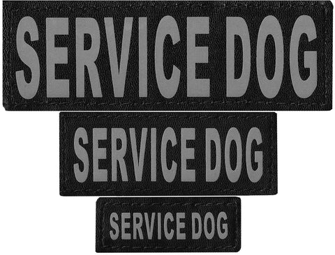 Dogline Reflective Service Dog Patch (Set of 2)