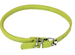 Soft Leather Rolled Collar - Keep Doggie Safe