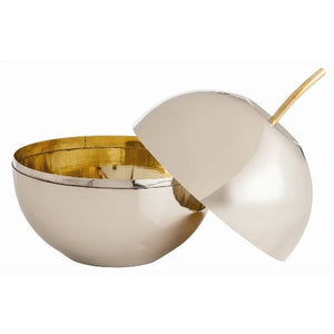 Aberdeen Apple Container Polished Nickel/Brass