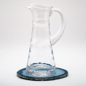 Simple Dimple Glass Pitcher, Medium