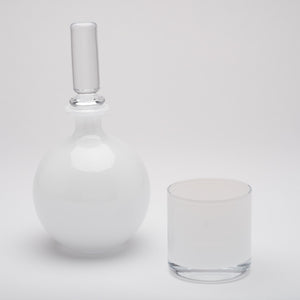Decanter~Opaline White Set