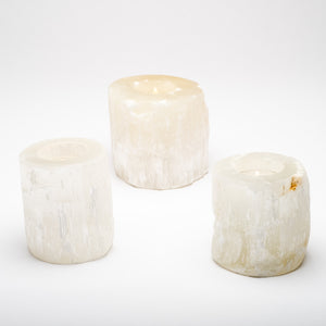 Selenite Tealight Holder Set/3