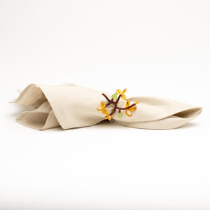 Flowering Branch Napkin Ring Set/4
