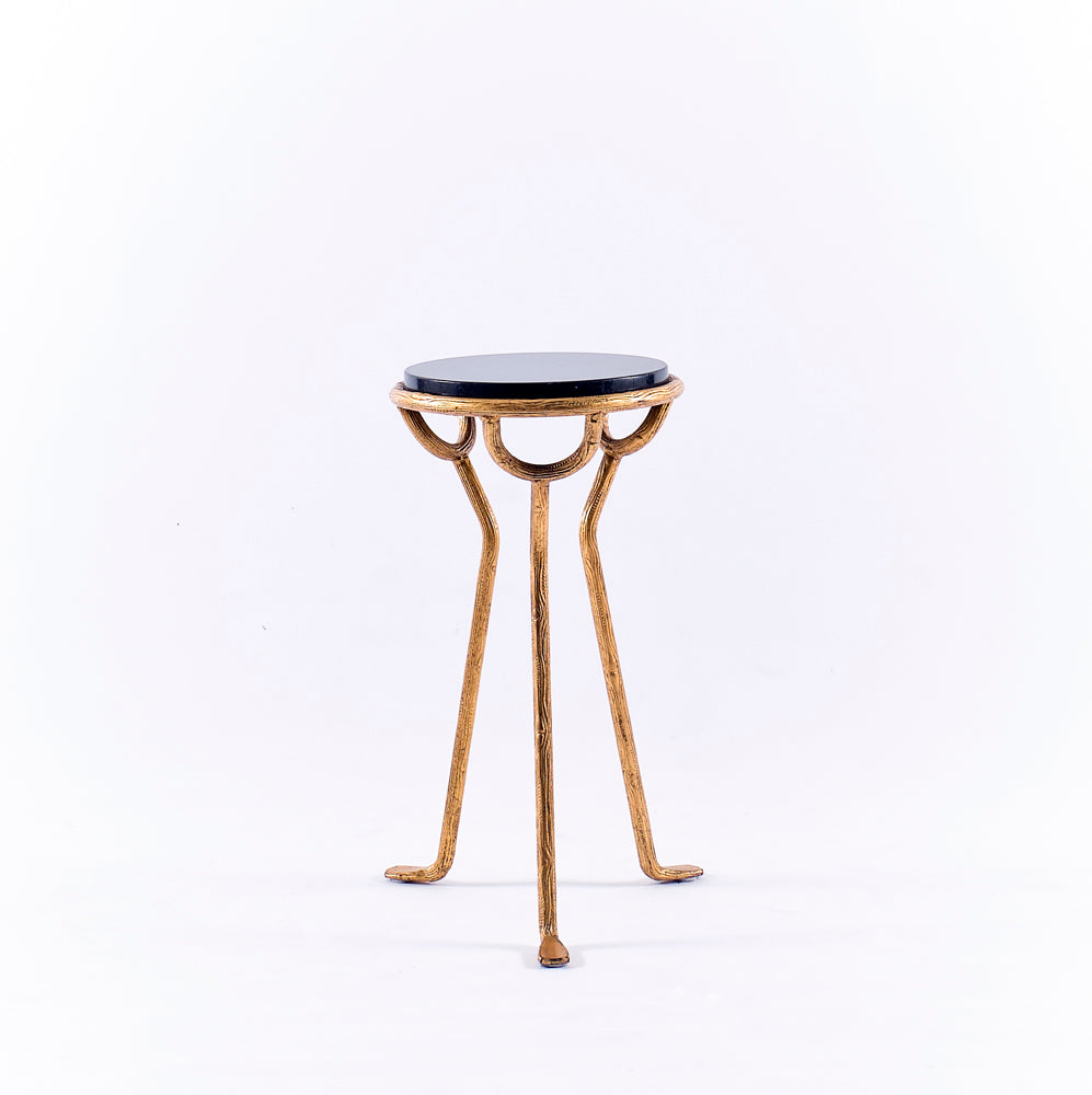 Granite & Gold Accent Table