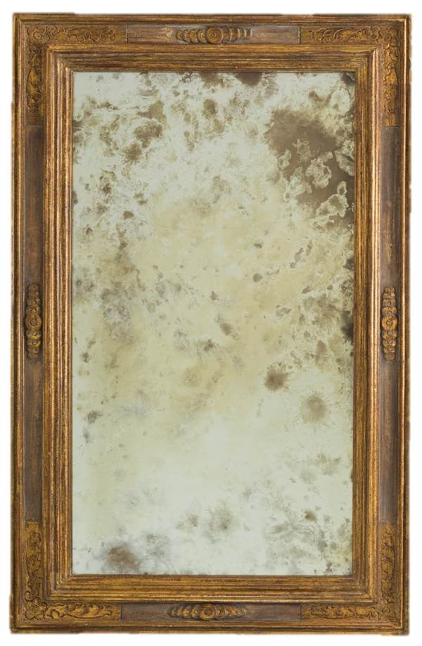 Petite Mirror 12th C. Gold & Tudor Wash