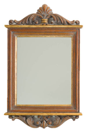 Petite Mirror 14th C. Gold & Tudor Wash