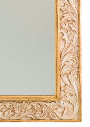Petite Mirror Renaissance Gold & Bellagio White
