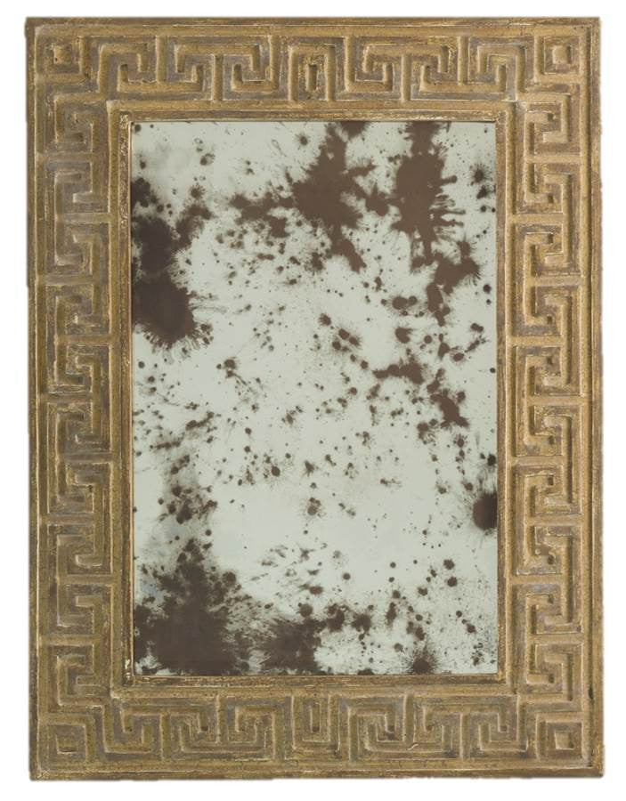 Petite Mirror Florentine Wash, Ivory Wood & Crackle Poly