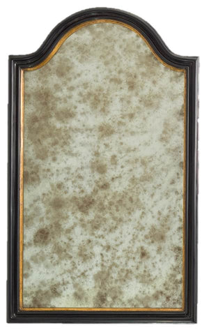 Petite Mirror 14th Century Gold & Black Poly
