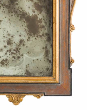 Petite Mirror 14th Century Gold, Tudor Wash & Black Poly