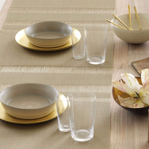 Table Runner Tuxedo Stripe Gold, Tête-À-Tête