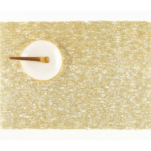 Placemat Metallic Lace Gold Rectangle, Set/2