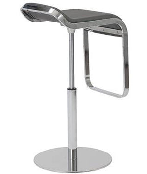 Adjustable Piston Stool Chrome/Leather