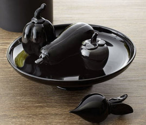 Art Glass Vegetable, Black