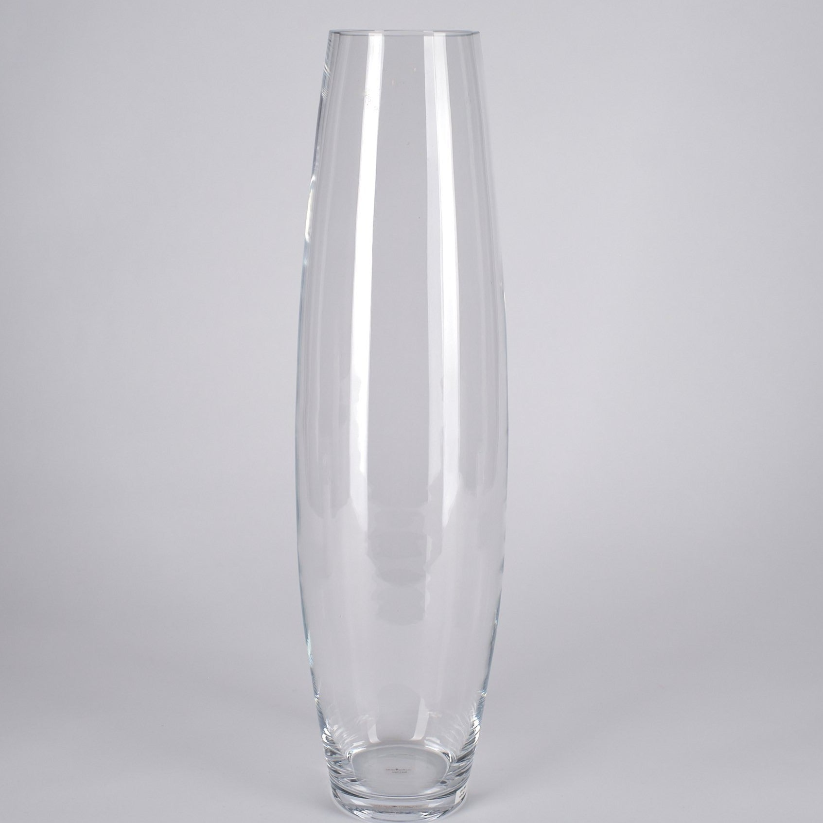 "Tall Clear Vase~39"" Ht"
