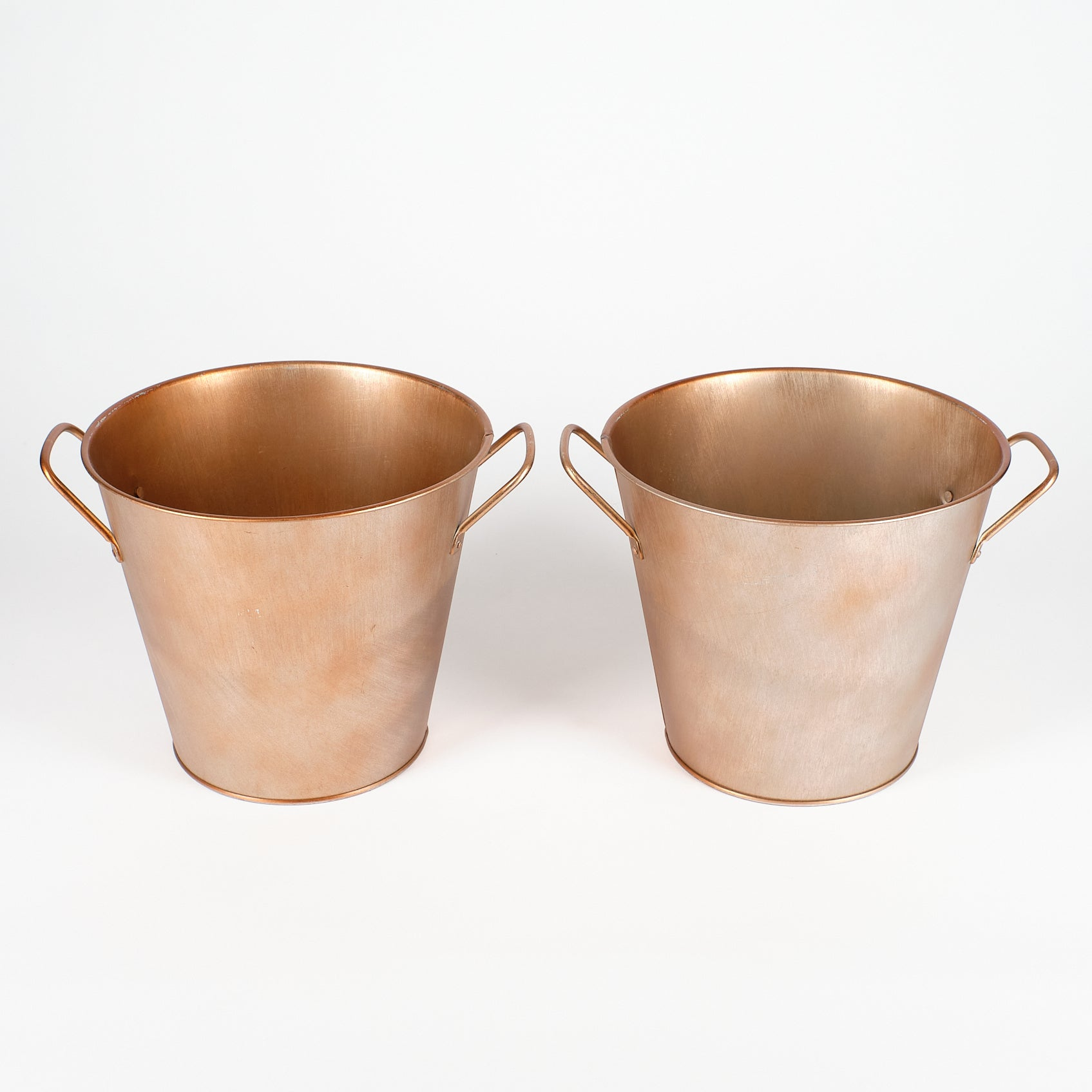 Copper Finish Bucket with Handles