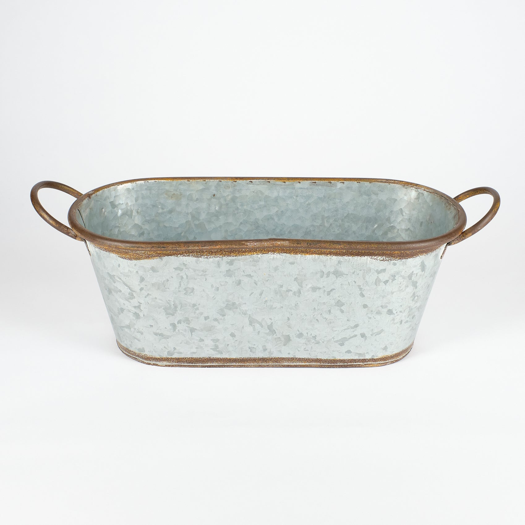 Antiqued Zinc Planter Large