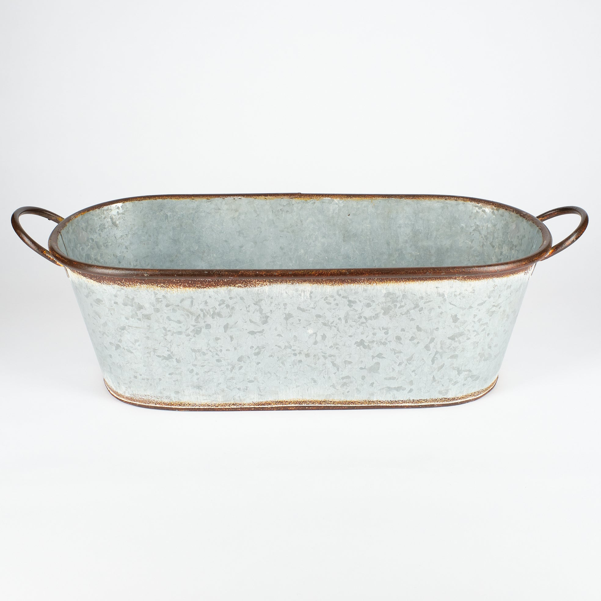 Antiqued Zinc Planter Small