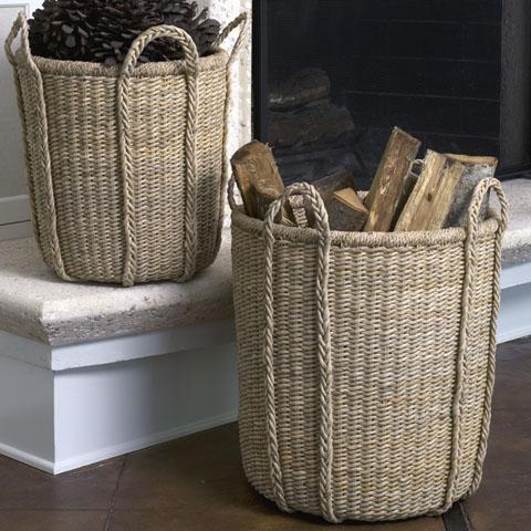 Hand Crafted Round Nesting Basket