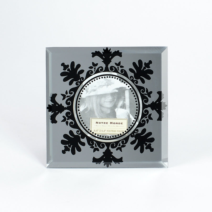 "Mirror Frame with Black Detail- 4"" x 4"