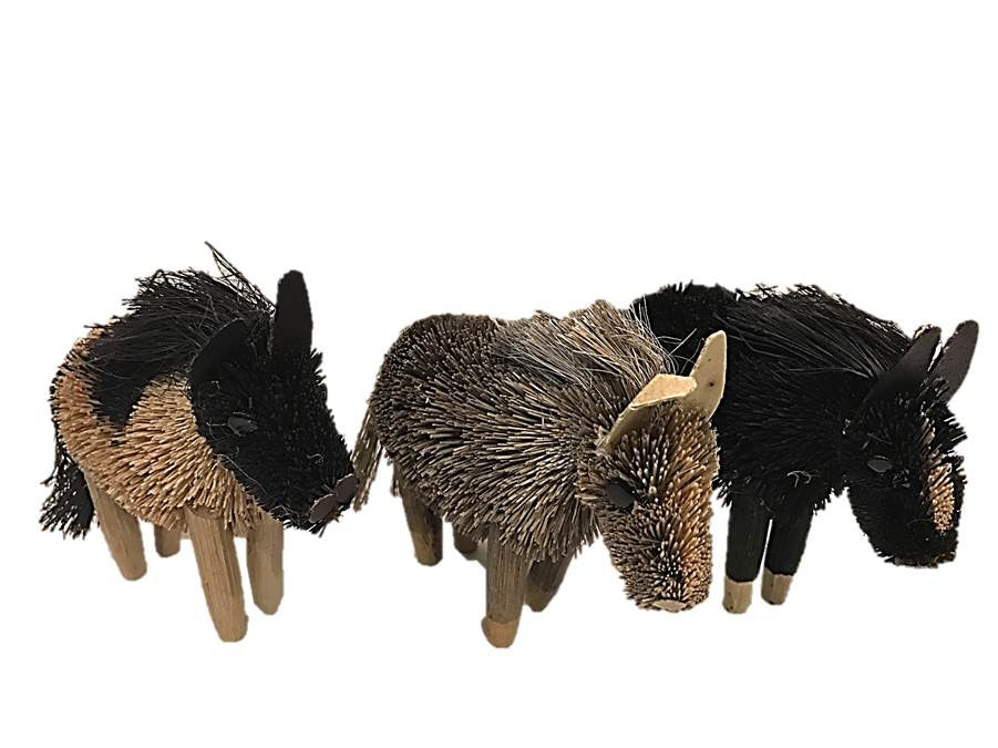 Brushy Wild Pony Ornament S/3