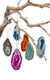 Joia Agate Ornaments Assorted Set/3