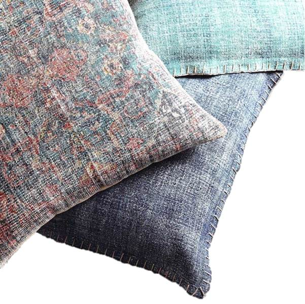 Pillow~Leila Teal/Raspberry