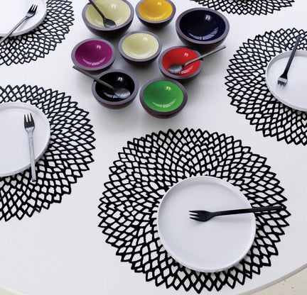 Placemat Dahlia, Set/2, Black