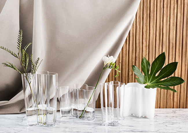 Alvar Aalto Clear Vase Collection B Moore Design Inc