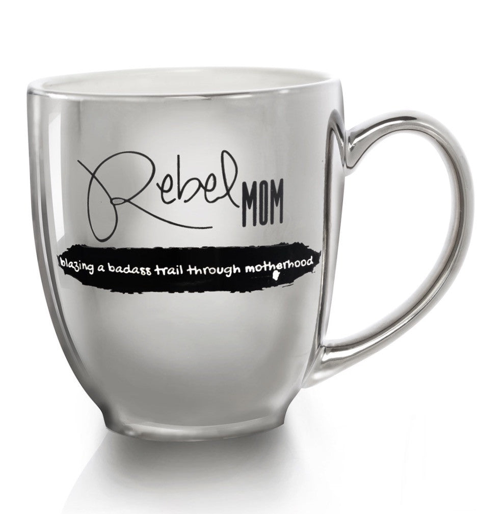 """REBEL MOM"" luxe bistro coffee mug - The REBEL Tribe"
