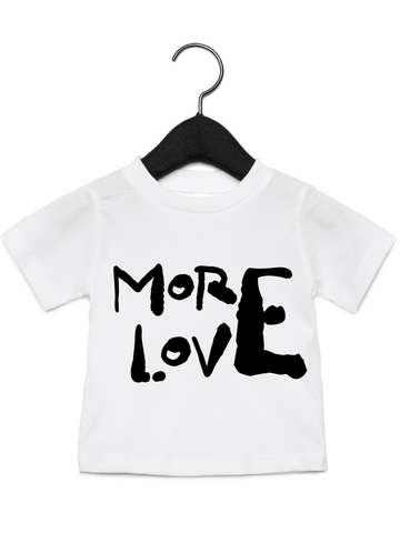 More Love Young Rebels Tee- The Rebel Tribe - kids, tees, t-shirt, white tee, graphic tee, more love, limited edition, crew neck