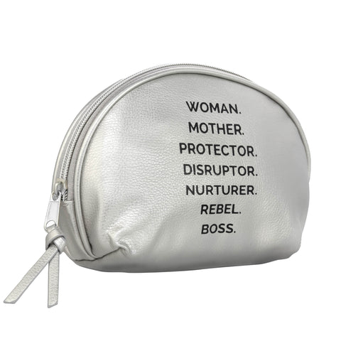 NOUNS POUCH - The REBEL Tribe - accessories, outwear, leather, faux, genuine, nouns, statement nouns, motherhood, mother's special. white, perfect gift, protective
