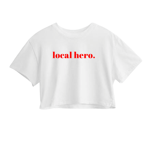 local hero. crop tee - The REBEL Tribe