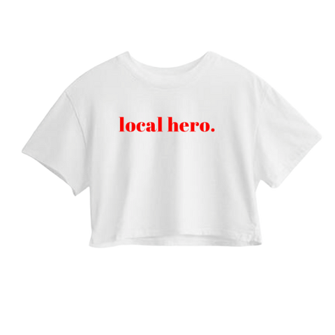LOCAL HERO CROP TEE - The REBEL Tribe - graphic tee, tee, t-shirt, motherhood, mother's special, liited edition