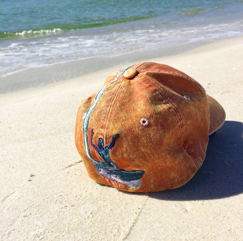Catch Life Hat Tangerine Back