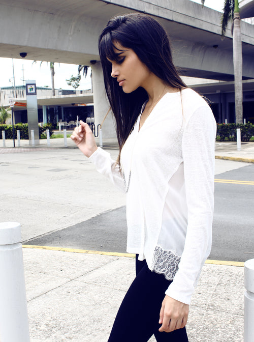 Lace Media Top