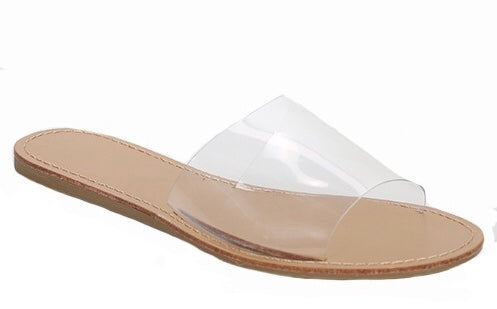 Open Toe Slide Flat Sandal