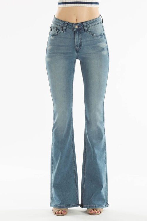 High Rise Light Denim Flare