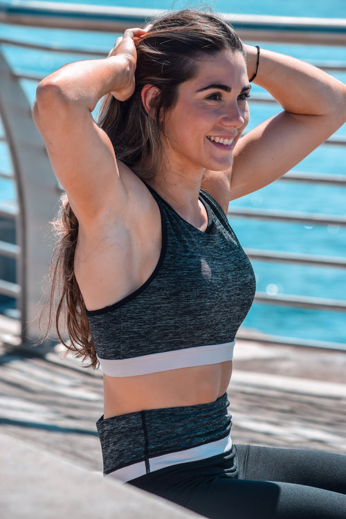 Melange Sport Bra - Athleisure Collection