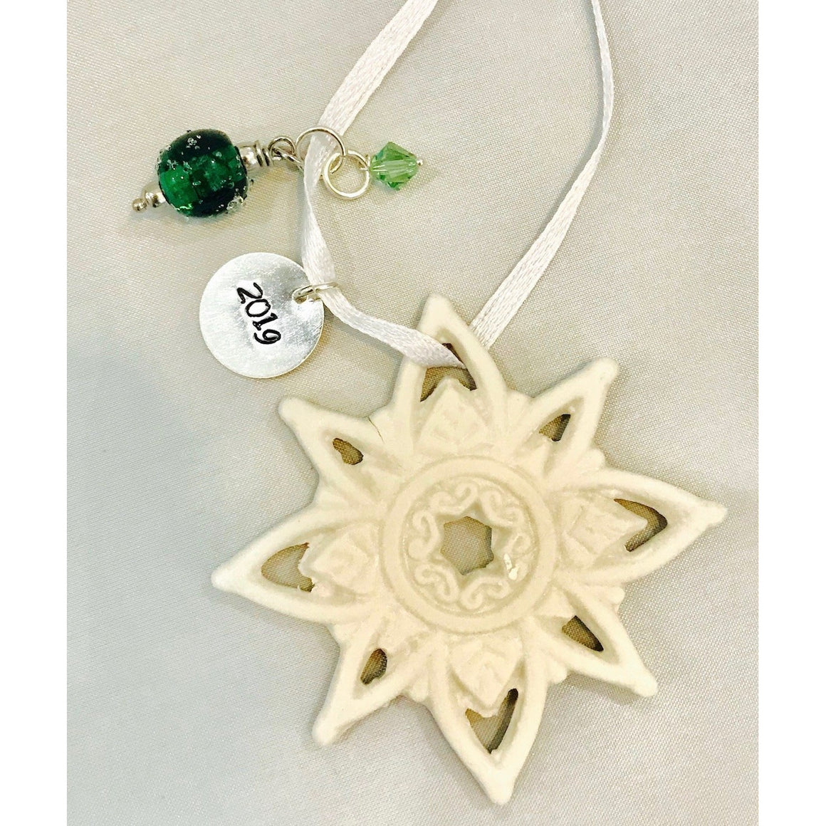 EKG Stamped Snowflake Ornament-2019