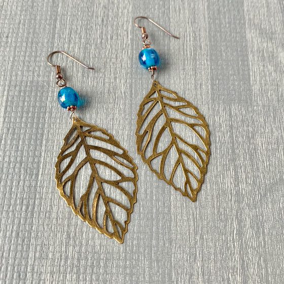 Boho Leaves - Crystalline Blue