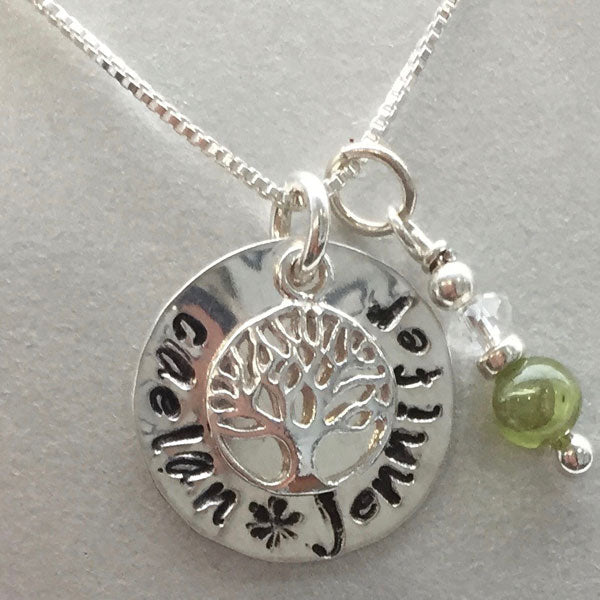 "Stamped ""Mothers' Necklace"""