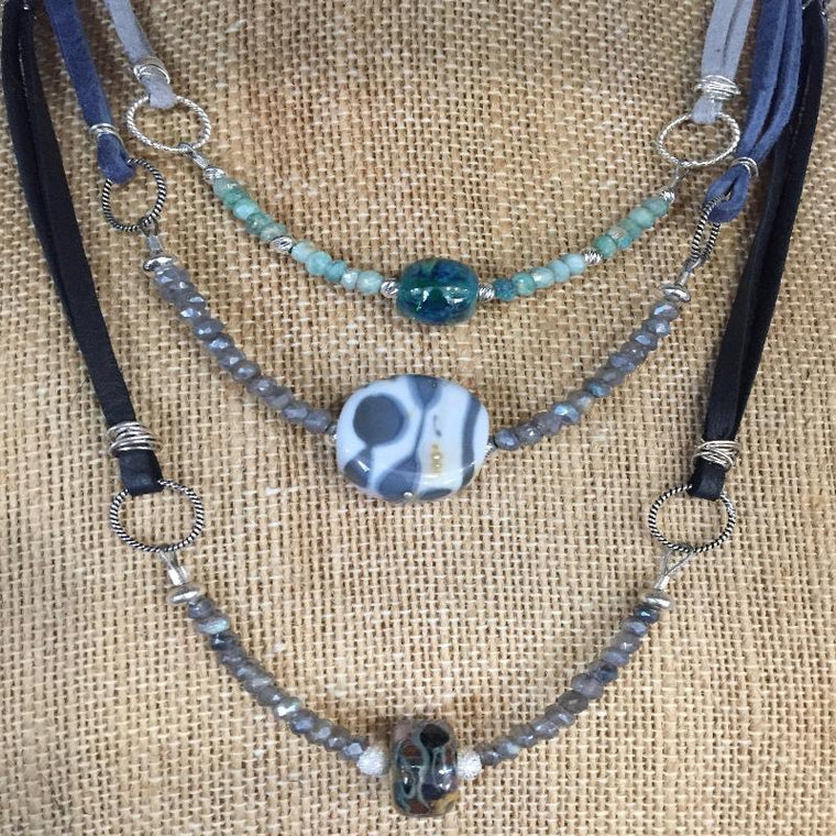 Autumn Gemstone Suede Necklace Workshop