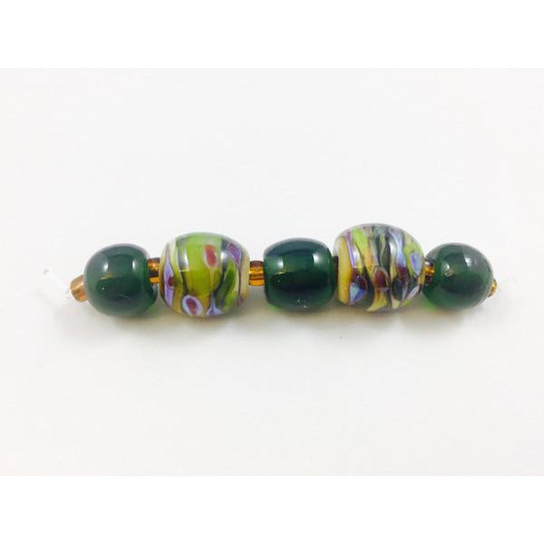Evergreen Swirl Bead Set