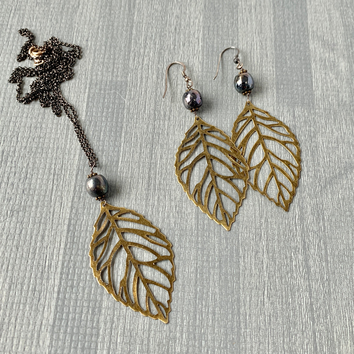Boho Leaves - Metallic